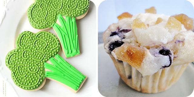 Broccoli Cookies | Blueberry Lemon Cream Cheese Muffins