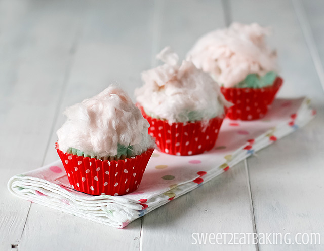 Fairy Floss Cupcakes Recipe by Sweet2EatBaking.com