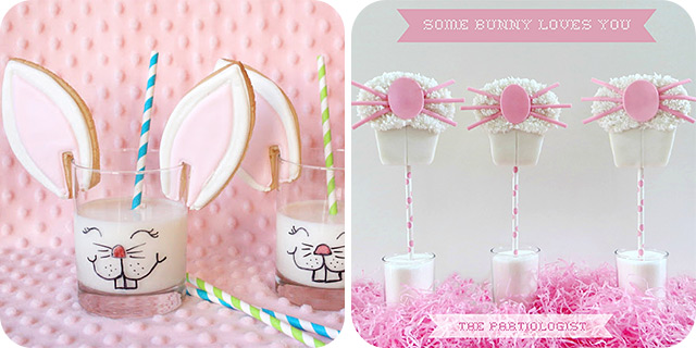 {Bunny} Cookies and Milk | Easter Bunny Photo Prop Cookies