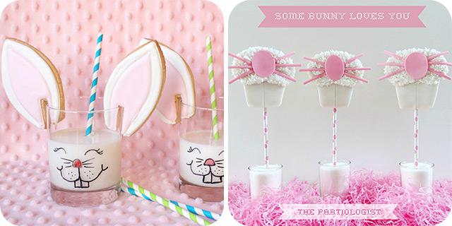 {Bunny} Cookies and Milk | Easter Bunny Photo Prop Cookies