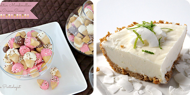 Neapolitan Marshmallow Ice Cream Cones   Coconut Lime Dessert