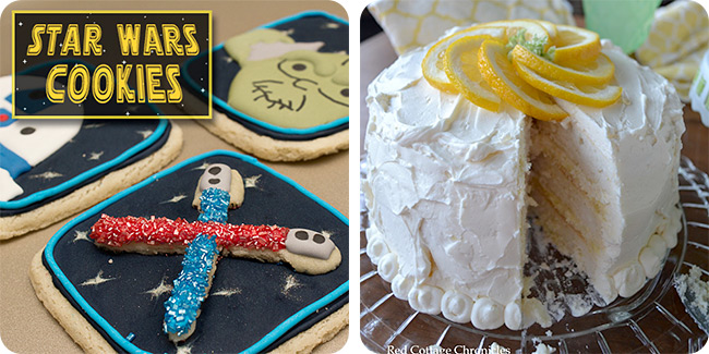 Star Wars Cookies | Triple Lemon Buttercream Cake