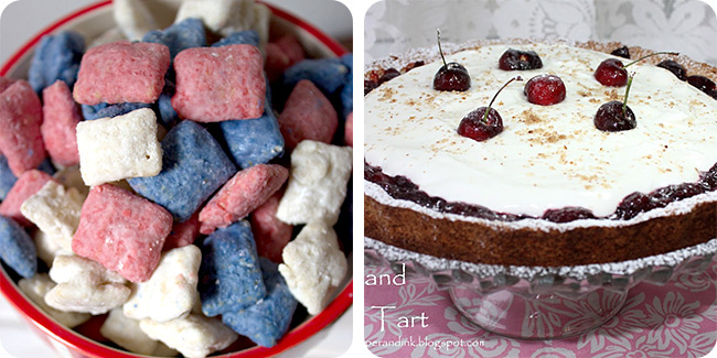 Patriotic Puppy Chow | Cherry and Almond Tart