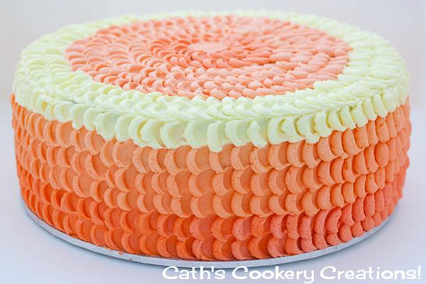 Peach Ombre Petal Cake