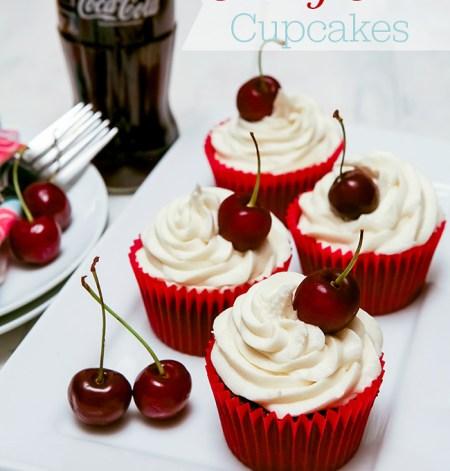 Cherry Coca-Cola (Coke) Cupcakes Recipe
