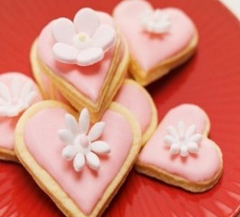 Heartshaped Almond Biscuits