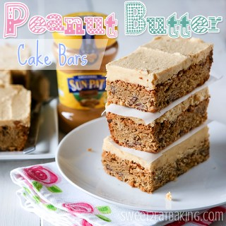 Frosted Peanut Butter Cake Bars Recipe