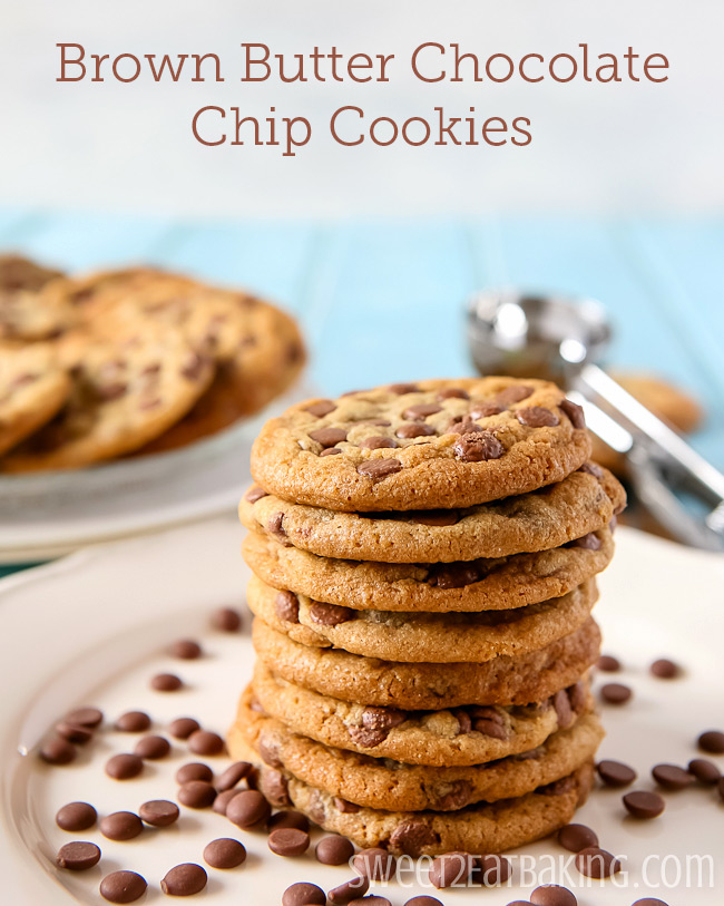 Brown Butter Chocolate Chip Cookies bySweet2EatBaking.com