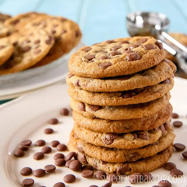 Best Brown Butter Chocolate Chip Cookies Recipe by Sweet2EatBaking.com