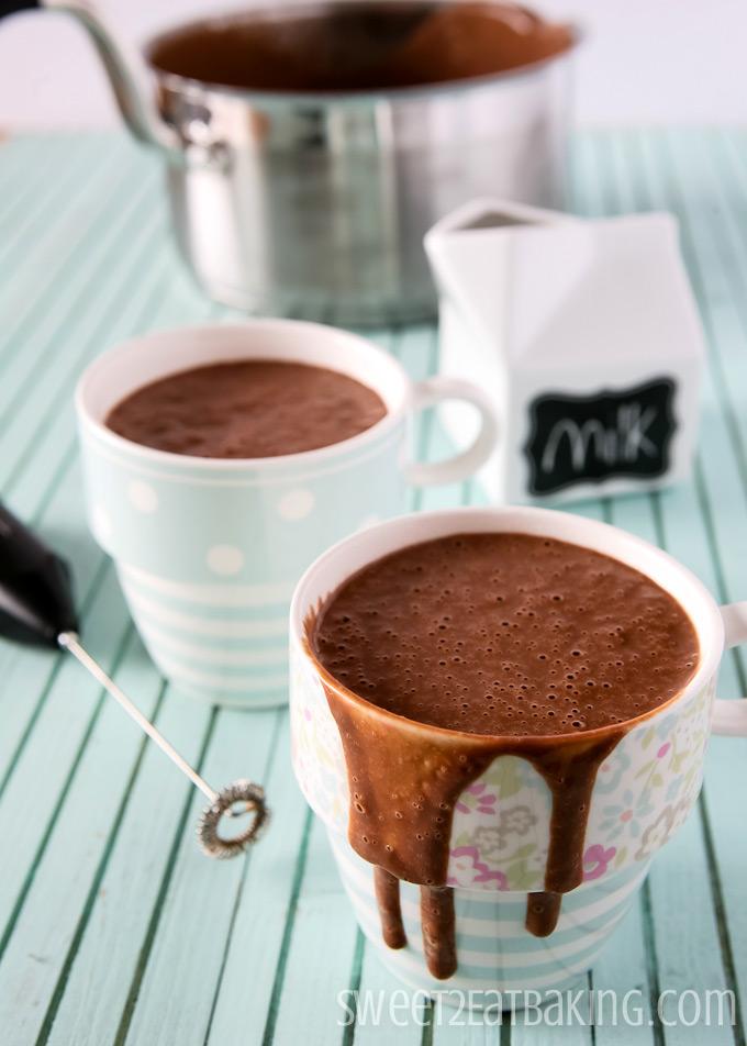 European-Style Hot Chocolate   Sweet2EatBaking.com   #hotchocolate #recipe