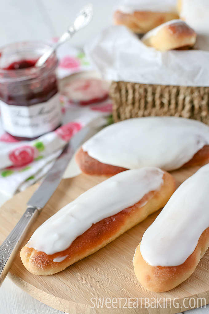Iced Fingers by Sweet2EatBaking.com | #sweetbread #icing #baking #recipe