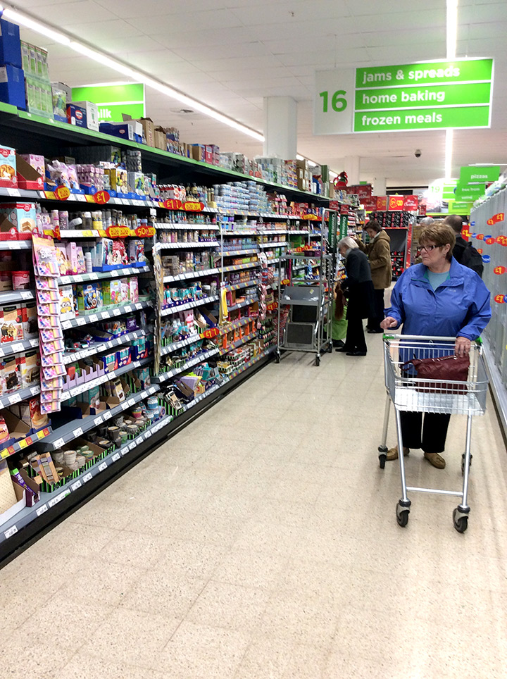 Asda Home Baking Aisle