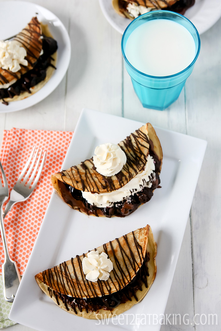 Black Forest Crepes by Sweet2EatBaking.com for Pancake Day