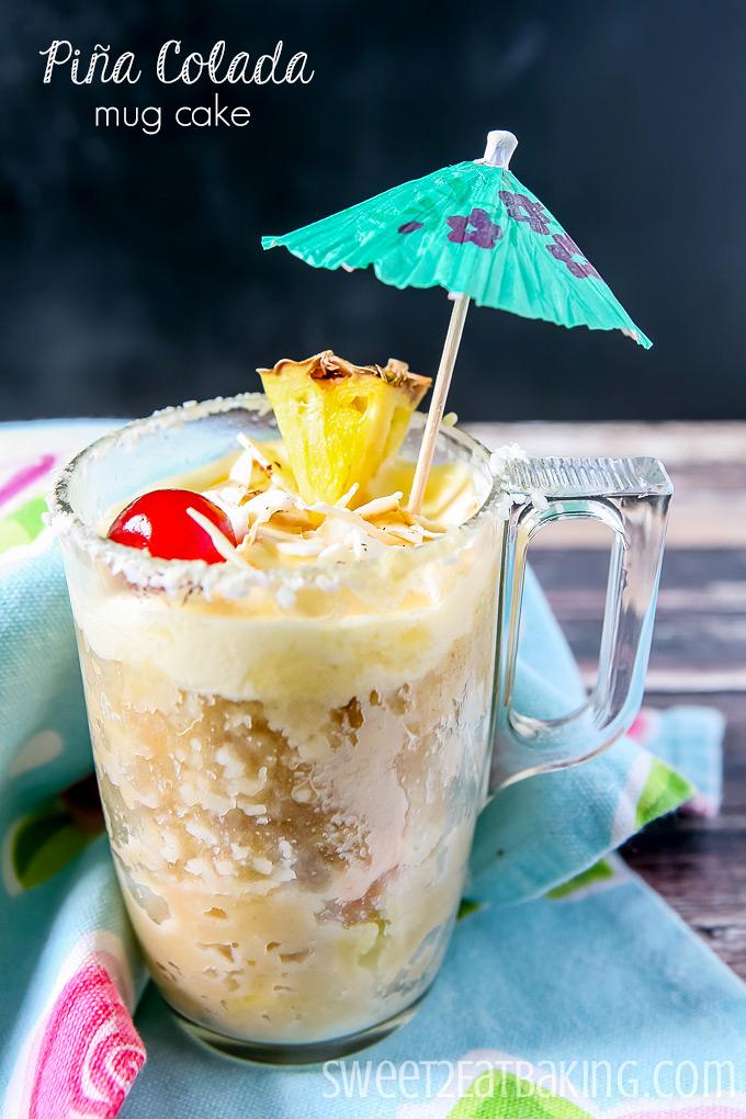 Piña Colada Mug Cake by Sweet2EatBaking.com