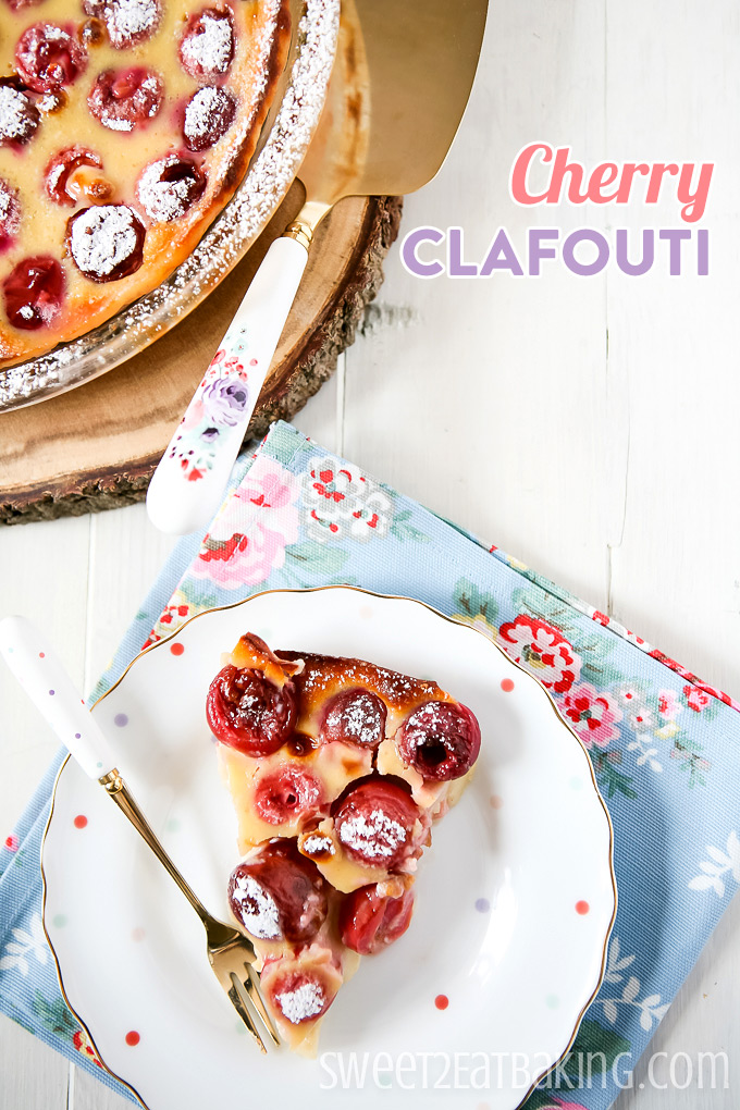 Cherry Clafouti by Sweet2EatBaking.com