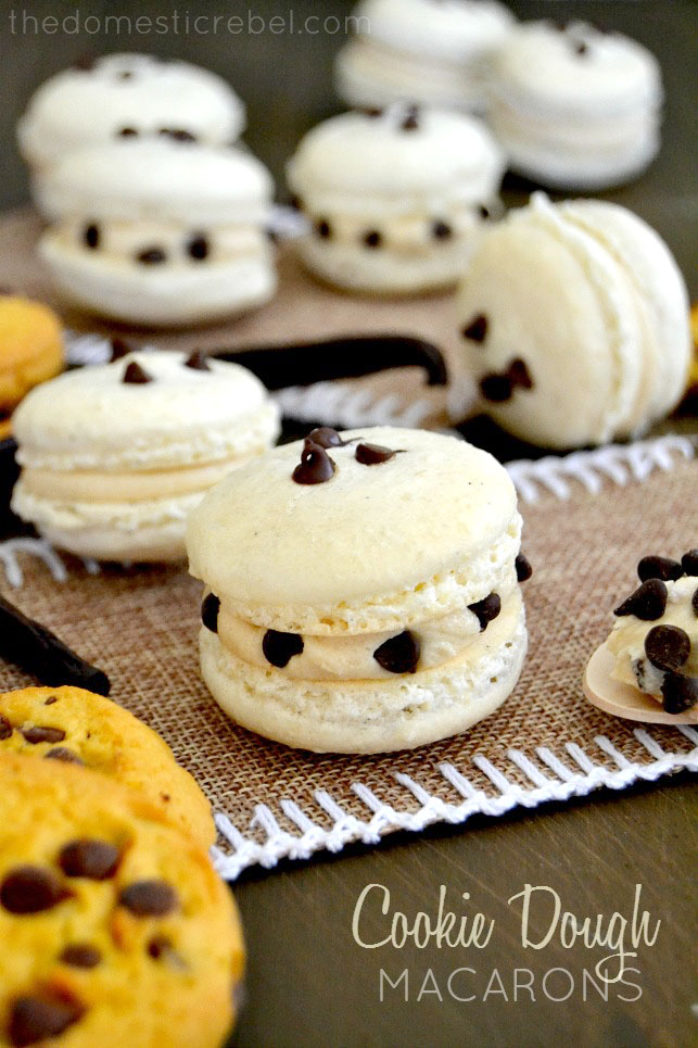 Chocolate Chip Cookie Dough Macarons Recipe