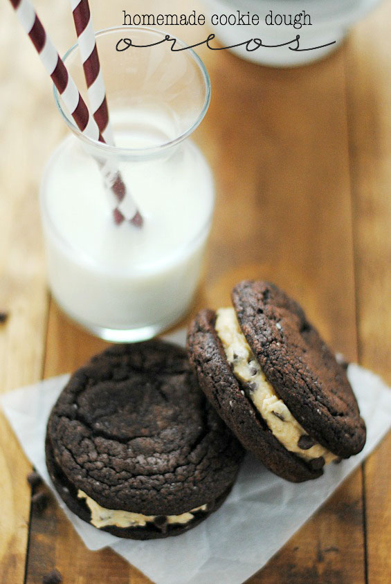 Homemade Cookie Dough Oreos Recipe