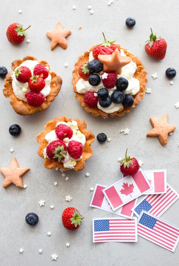 Patriotic Fruit Tarts