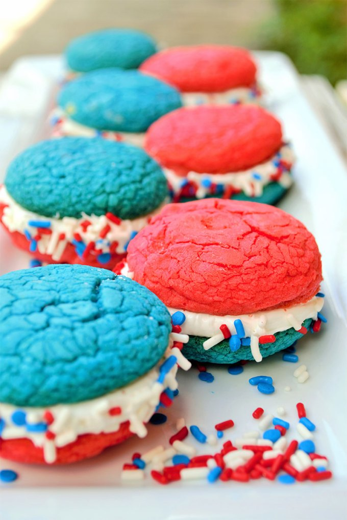 Red White & Blue Whoopie Pies