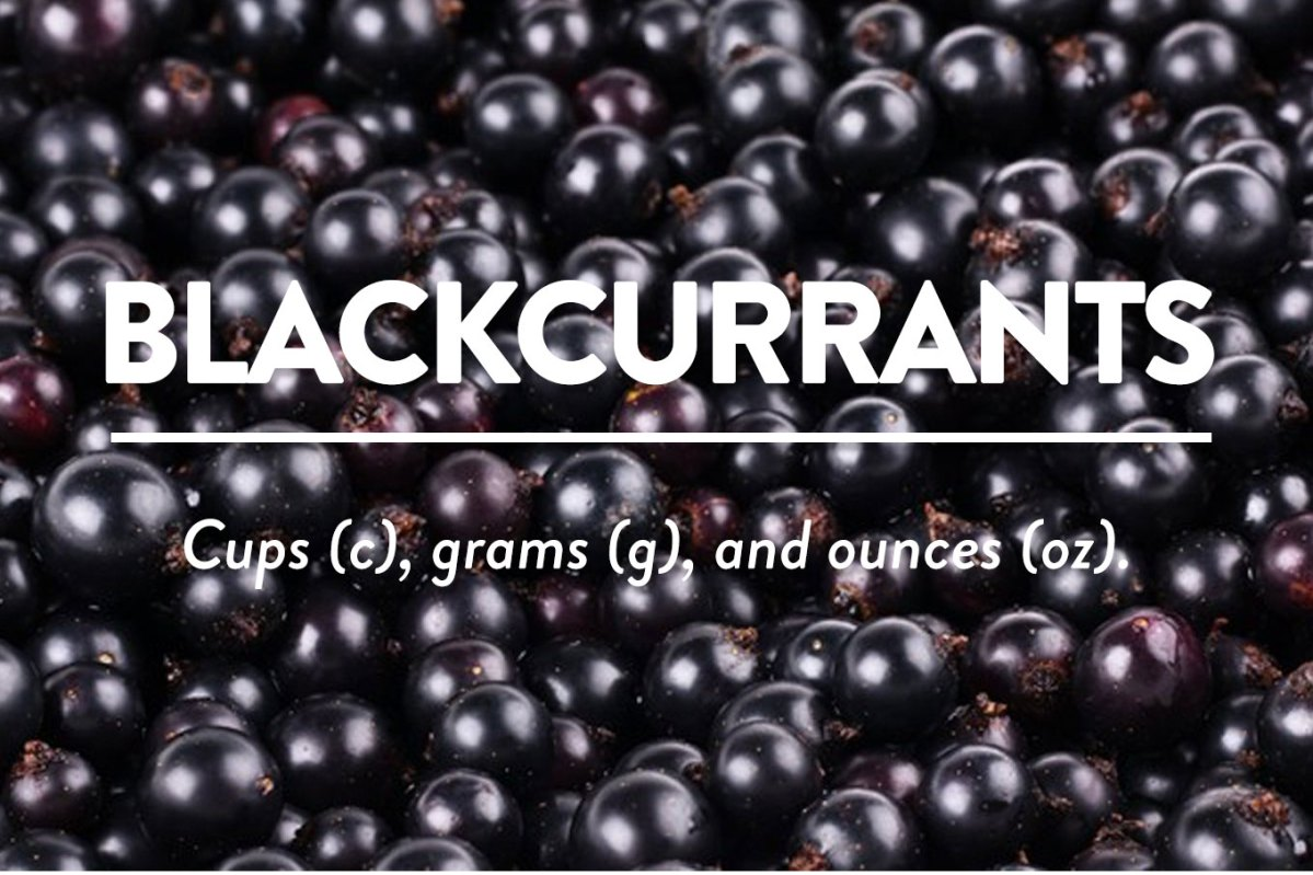 Blackcurrants - Cup to Grams (g) and Ounces (oz)