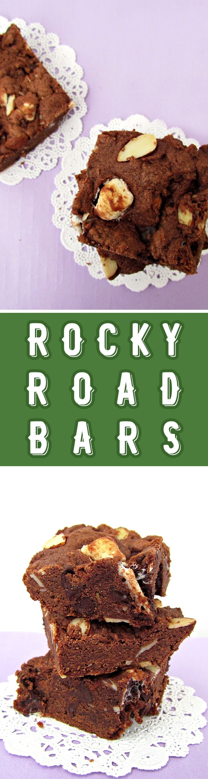 Rocky Road Dessert Bars Recipe on Sweet2EatBaking.com