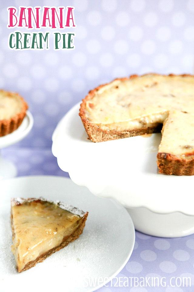 Banana Cream Pie Recipe with Banana Crust by Sweet2EatBaking.com