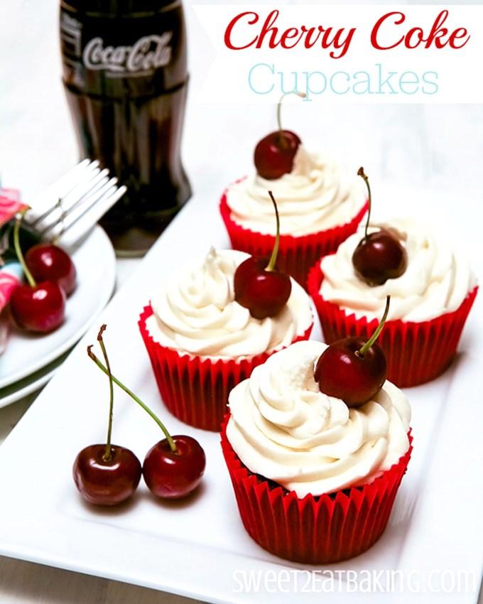 Cherry Coke Cupcakes Recipe by Sweet2EatBaking.com