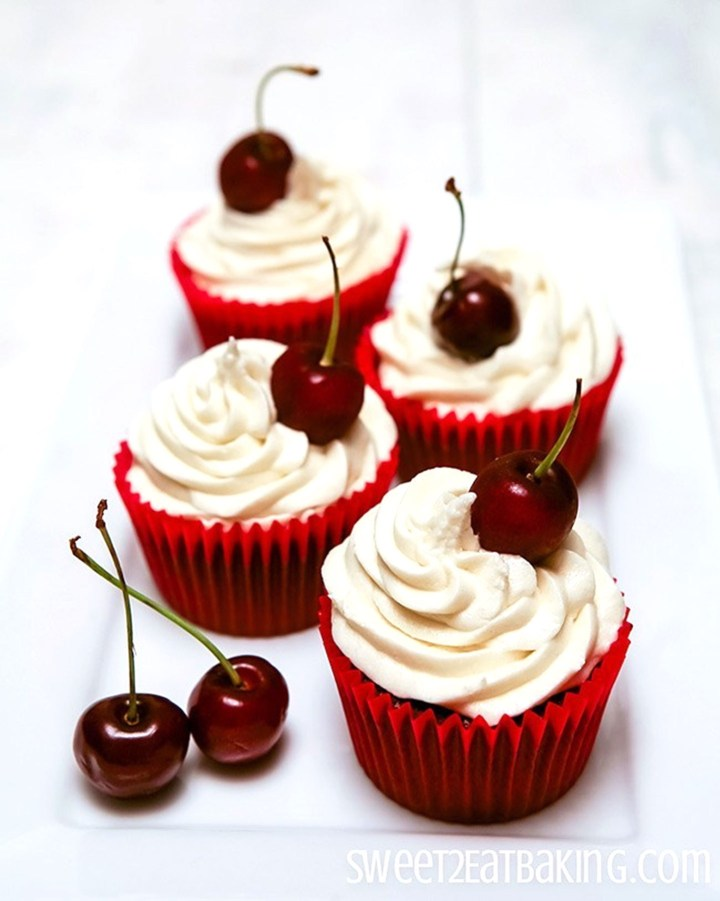 Cherry Coke Cupcakes Recipe by Sweet2EatBaking.com