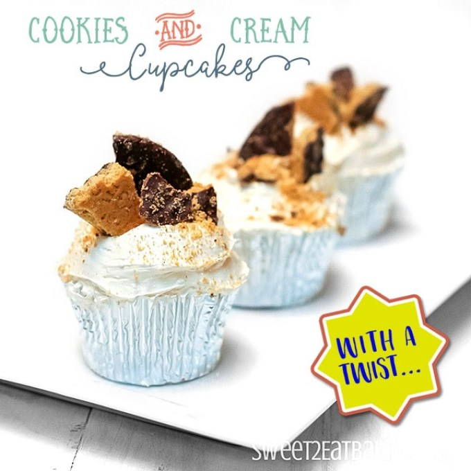 Cookies and Cream Cupcakes Recipe With a Twist! by Sweet2EatBaking.com