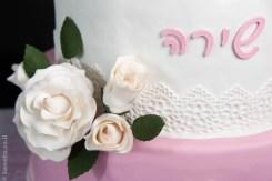 עוגת בת מצווה בלט ופרחים