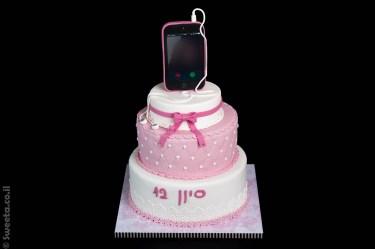 עוגת בת מצווה אלפון שתי קומות