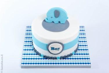 baby shower - עוגה מעוצבת להולדת הבן