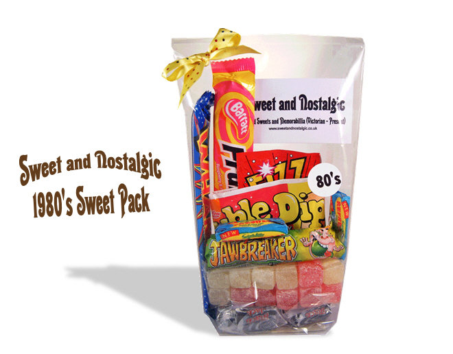 1980's Retro Sweets Pack 30th Birthday Gift Idea