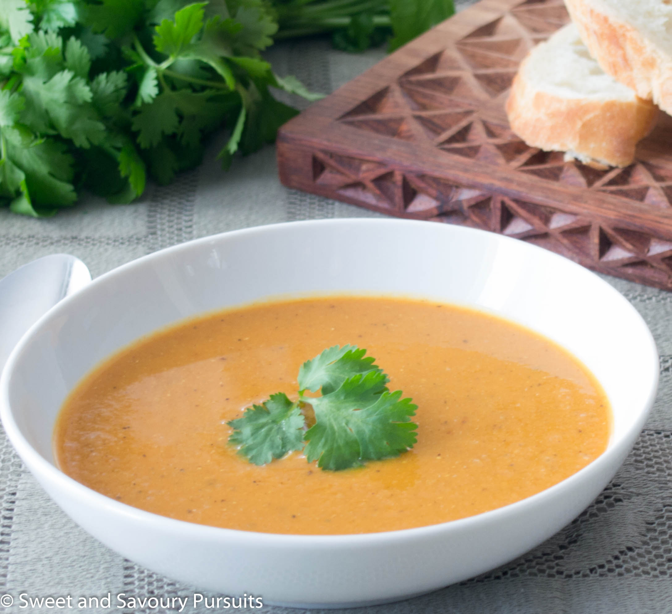 Bowl of Red Lentil and Cauliflower Soup