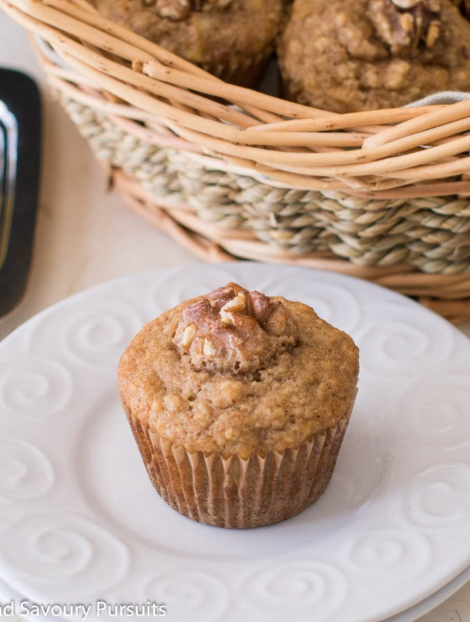 Banana Maple Walnut Muffinss