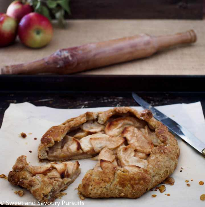 Spiced Apple Galettes with cut slice
