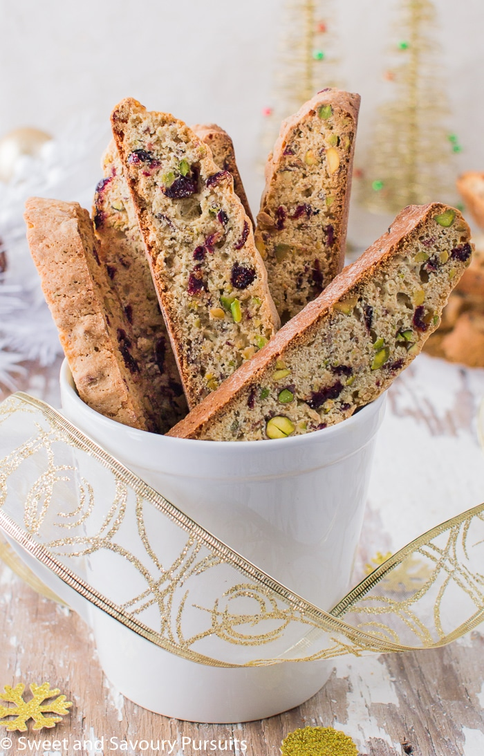 Pistachio and Cranberry Biscotti