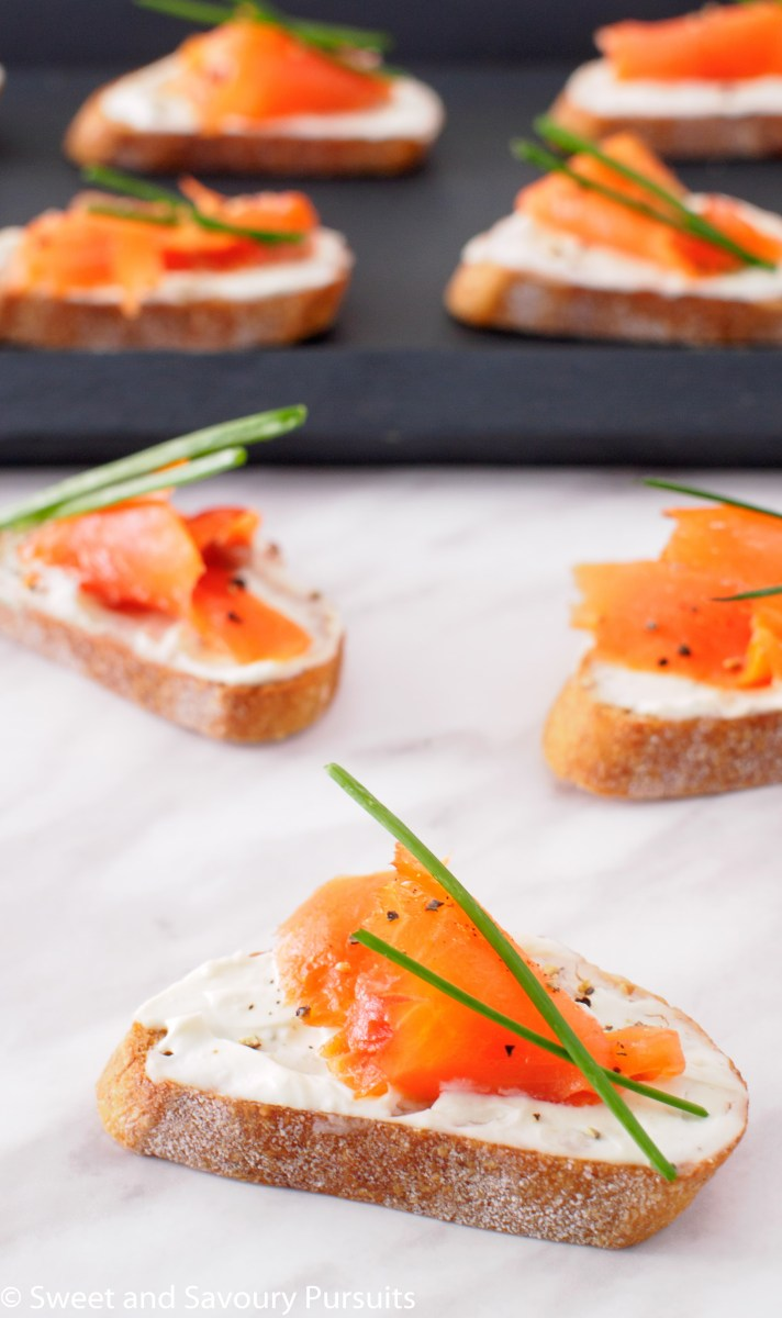 Smoked Salmon and Boursin Crostini