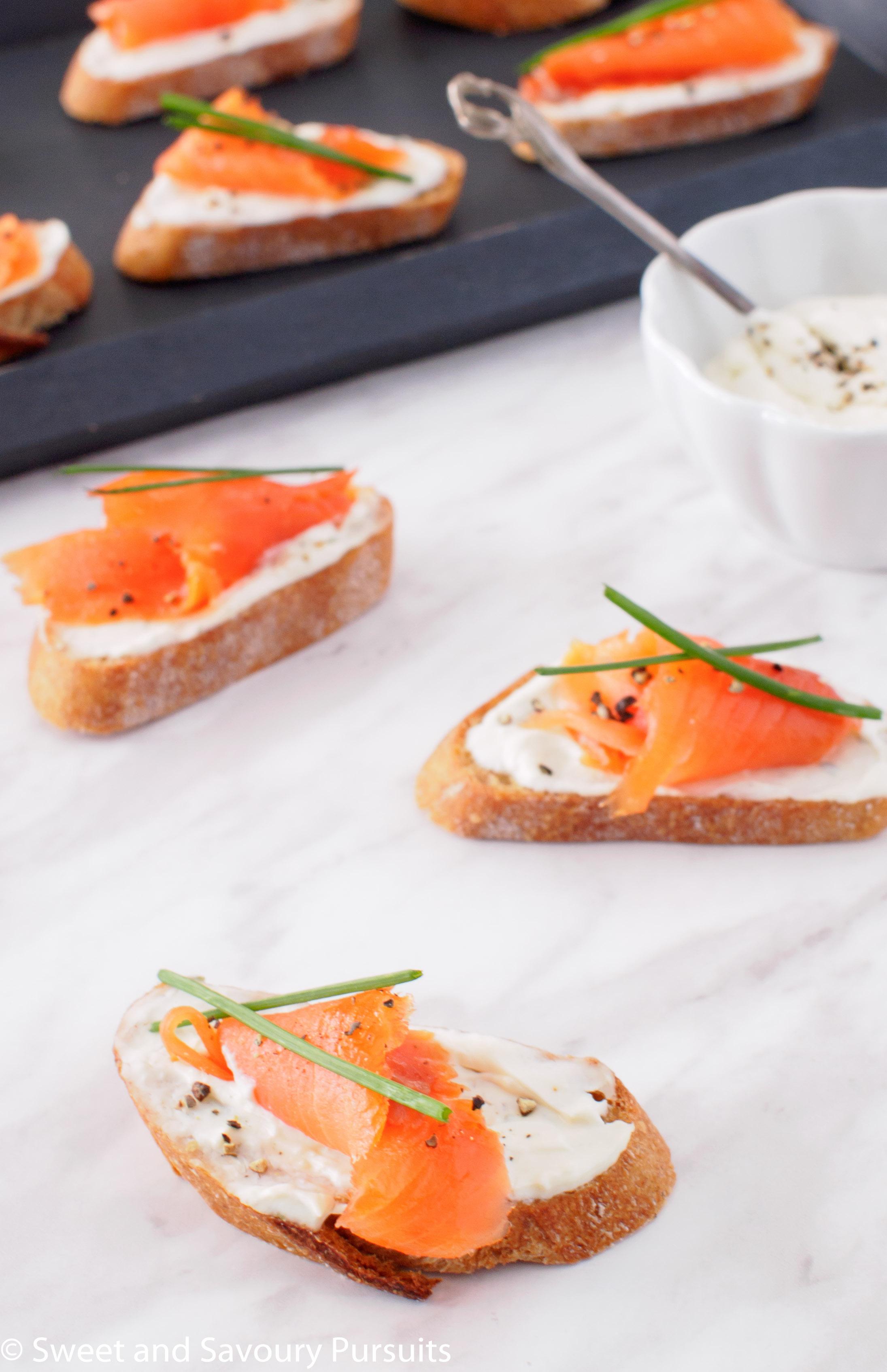 Smoked Salmon and Boursin Crostini – Sweet and Savoury ...