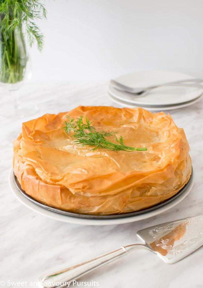 One Easy Spanakopita pie.