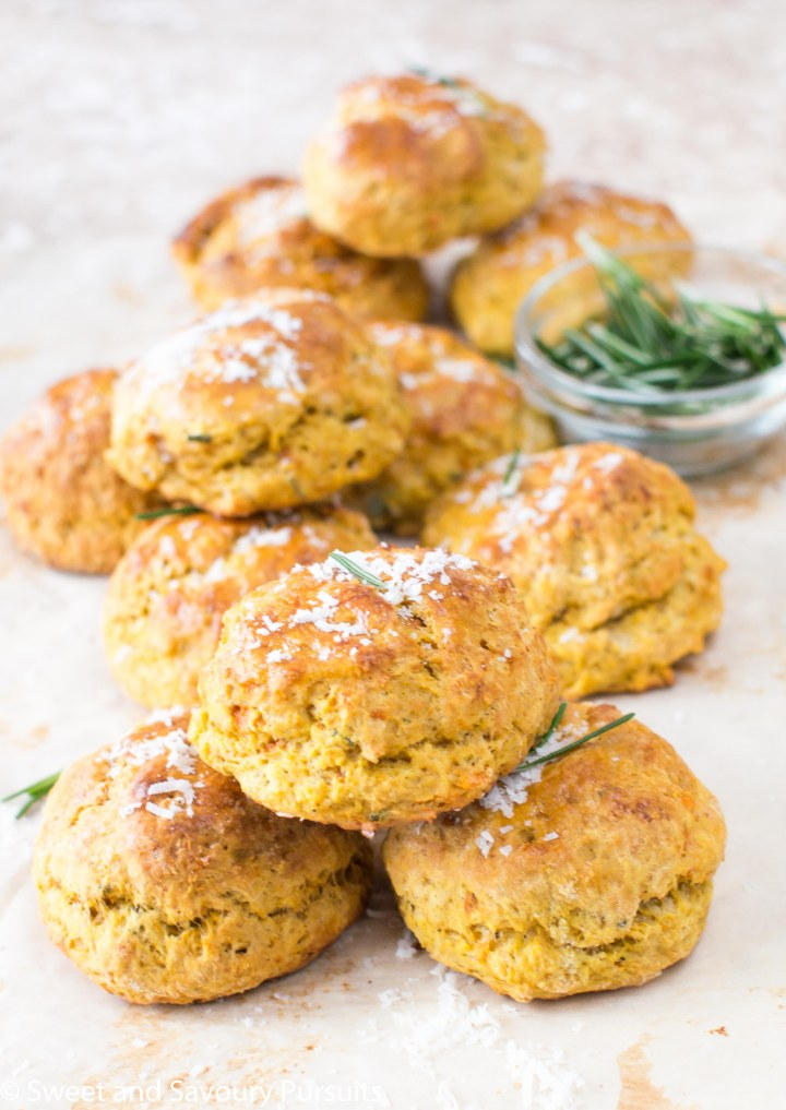 Freshly baked Sweet Potato, Parmesan and Rosemary Biscuits