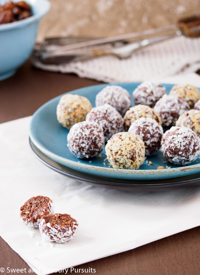 5 Ingredient Date Energy Balls on a plate.