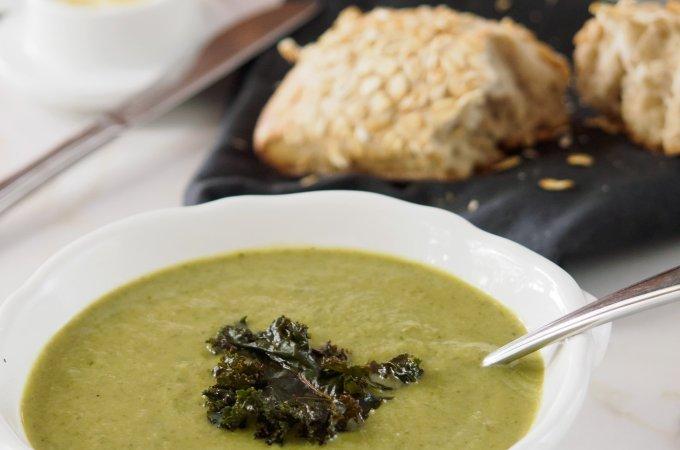 Cauliflower, Kale and Leek Soup