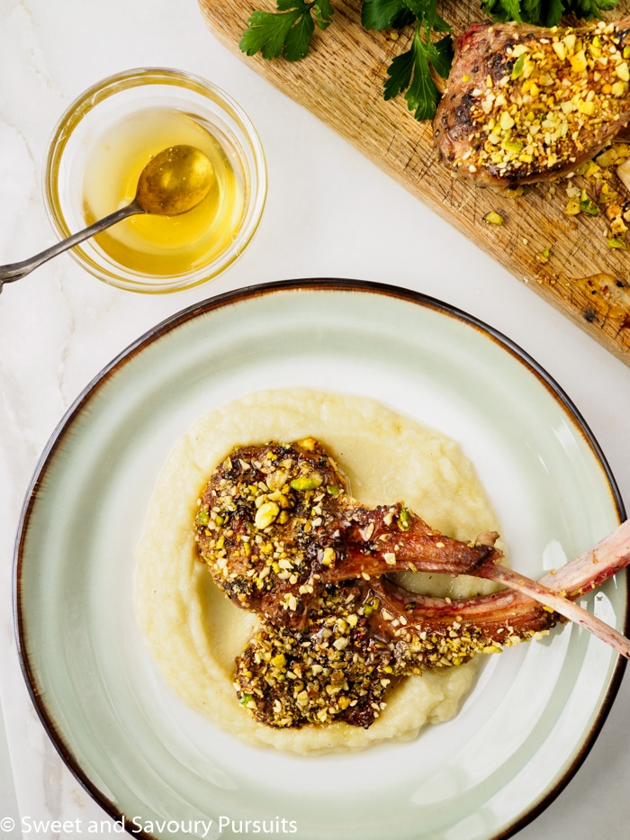 Dukkah-Crusted Lamb Chops with Cauliflower and Potato Purée