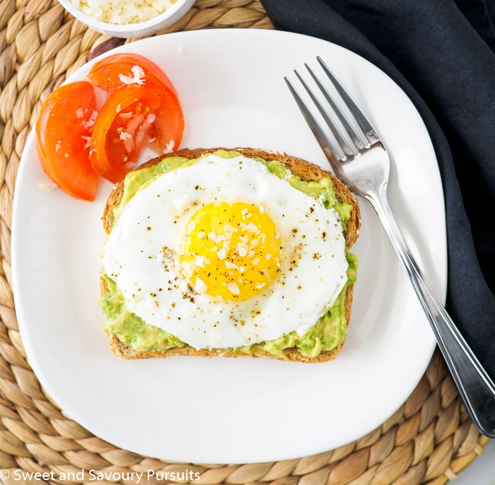 Fried Egg on Avocado Toast