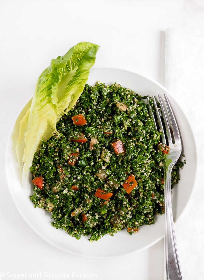 Authentic homemade easy Lebanese Tabbouleh recipe. Tabbouleh is especially delicious in the summer when fresh herbs are abundant.