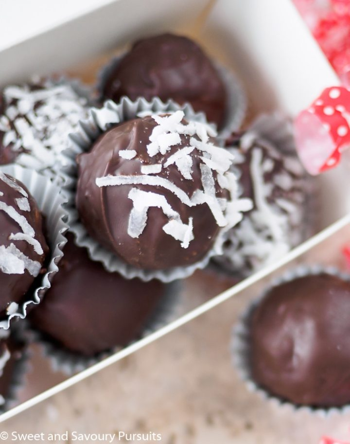 Box of Double Chocolate Coconut Almond Truffles