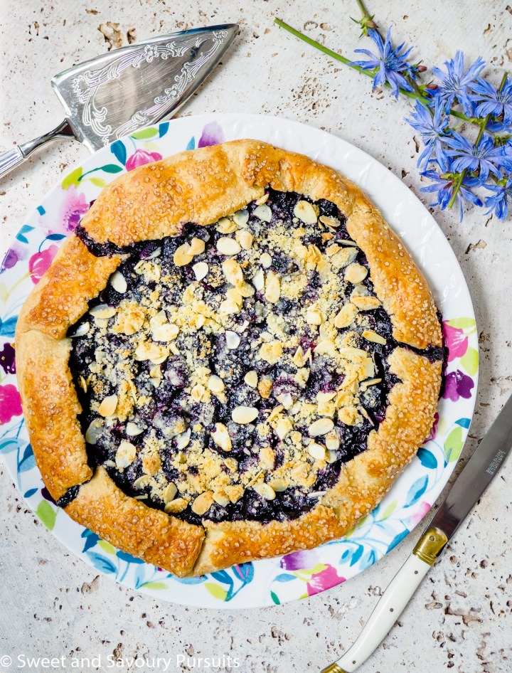 Blueberry Almond Crumble Galette