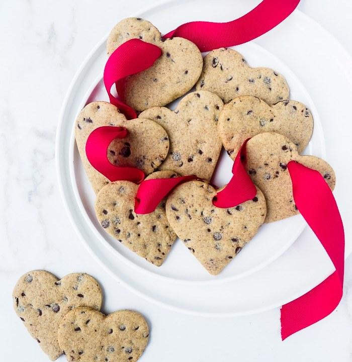 Healthier heart-shaped sugar cookies.