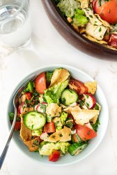 Serving of Fattoush Salad in a bowl